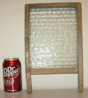 Vtg antique small unmarked glass washboard rustic primitive laundry room decor
