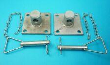 2 x Spare Plate Bracket Spigot & PIN Swivel Jack Leg Prop Stand Ifor Williams