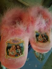 Barbie principessa principesse rosa 33 pantofole ciabatte pile inverno piume