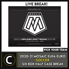 2020-21 PANINI MOSAIC EURO 2020 SOCCER 6 BOX BREAK #S182 - PICK YOUR TEAM