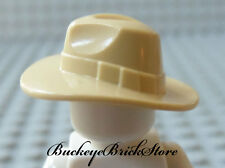 NEW Lego Minifig TAN FEDORA HAT - Outback Indiana Jones Minifig Head Gear