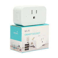 Secure WiFi Smart Socket for use with Amazon Alexa - 3 fork single outlet USA