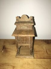 Antique Dollhouse Miniature German Oak Cabinet, Commode, or Small Hutch