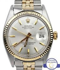 Vintage Rolex DateJust 1601 36mm Two Tone Gold Stainless Jubilee Watch 16013