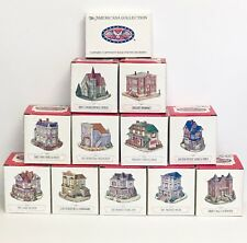 Liberty Falls Americana Collection Lot of 11 Homes Buildings + (1) Pewter Set