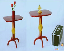 Deluxe Floating Table Diamond (Wooden Vase+Wooden Club Candlestick),Satge Magic
