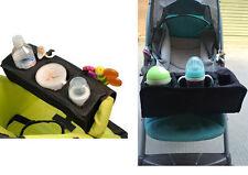 1pc black baby kids universal stroller lap tray snack milk bottle bag buggy tray