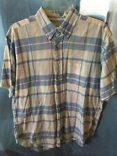 Brooks Brothers White Label SS Plaid Shirt Size L