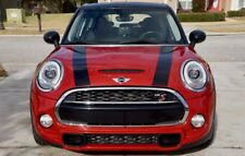 Mini Cooper Hardtop 2014-2018 Gloss Black Hood Bonnet Stripes Decals - Exact Fit