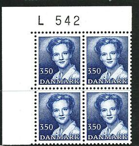 Denmark 1983 Queen Margrethe kr 3.50 number block of four. MNH.