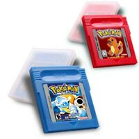 Pokemon Red / Blue Version Full Color Game Boy Color Gbc Cartridge Console