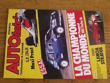 $$$ Revue Auto Hebdo N°488 Lancia StratosPeugeot 205 Turbo 16GP Italie Prost