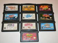 LOT OF 10 NINTENDO GAMEBOY ADVANCE GBA GAMES LIZZIE MCGUIRE WILD THORNBERRYS