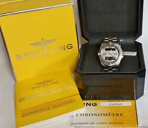 Breitling Aerospace Avantage E79362 Mens Titanium Wrist Watch Box Papers Tag