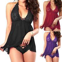 Sexo Mujer Pijamas Babydoll Vestido De Noche muñeca Lencería ropa de dormir