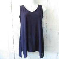 New Sympli Go To V Neck Tank Top 6 S Small Purple Sleeveless Layering Lagenlook