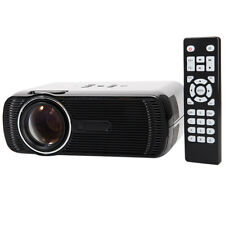 Portable 1080P HD Home Theater Mini LED LCD Projector HD AV USB VGA SD TV Black