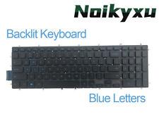 For Dell G7 7588 7590 7790 Laptop Backlit Keyboard Black Us Blue Font Backlight