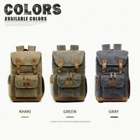 DSLR SLR Camera Bag Backpack Canvas Waterproof Travel Laptop Lens Case Large