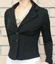 Guess by Marciano NWT Black CASSIA WIRED Tailored Jacket Spandex Fitted 2