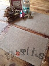 Pack of 6 Rustic Hessian handmade Table Mats