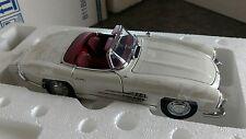 FRANKLIN MINT 1960 MERCEDES-BENZ 300SL-White Roadster-Ltd Ed of 413 1:24 NIB