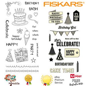 Birthday Stamps, Cake, Party, Happy Birthday, Presents, Ice Cream, Bunting, Hat