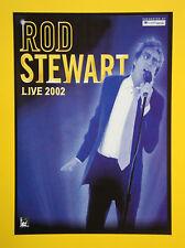 Rod Stewart UK Tour 2002 A5 tour flyer - MINT...ideal for framing!