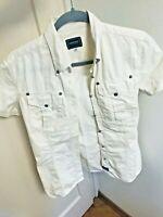 Authentic Versace Vintage 90s White Cotton Shirt Top Medusa Logo S Netaporter