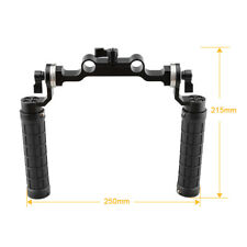 CAMVATE ARRI Rosette Handgrips & 15mm Rod Clamp for DSLR camera shoulder rig