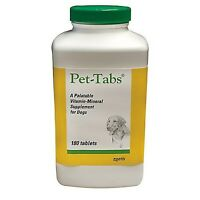 Pet Tabs 180 ct Vitamin Supplement For Dogs  FREE SHIPPING