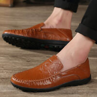 Men Dress Shoes Moccasins Shoes PU Leather Loafers Business Shoes Flats Fashion