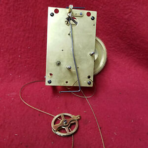 Seth Thomas #2 Brass Railroad Regulator Wall Clock Movement For Parts/Repair
