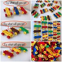 Lego Duplo Train / Car Bases -  Lot Of 3 Pieces Various Colors Assorted Random