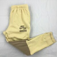 Nike Sportswear Club Fleece Sweatpants Jogger Pants Beige Brown Men's Large L