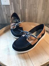 Clarks Cloudsteppers Jocolin Vista Navy Boat Shoes Women's Size 7M Nearly New
