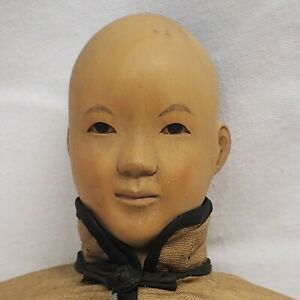 """Door of Hope 12"""" Shanghai Antique Wooden Mission Male Doll"""