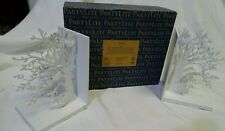 PartyLite SmartScents Holder -White Woodland Bookends New In Box P93061
