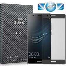 Cubierta De Vidrio Templado Curvo 3D Completo Protector de pantalla para Huawei P9 Negro