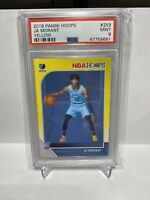 2019-20 Panini NBA Hoops Yellow #259 Ja Morant Memphis Grizzlies RC Rookie PSA 9