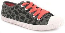 Chaussures gris à lacets en toile pour fille de 2 à 16 ans