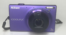 Nikon CoolPix S6100 16.0 Megapixel 7X Digital Camera Touch Screen Violet Purple