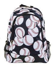 Baseball School Backpack Youth Bag Boys Theme Print