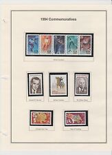 U.S. 1994 Commemorative Year Set, 80 items (7 scans) COMPLETE, mNH Fine