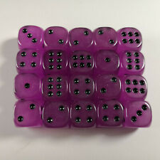 Glow In The Dark Dice 15mm Purple D6 Single Set Dot Spotted Board Game Table Top