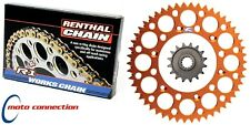 NEW RENTHAL KTM CHAIN & SPROCKET 13T FRONT 50T REAR KIT KTM SX125 2007 - 2010