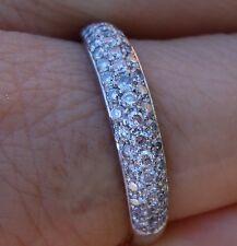 .60ct H/VS Micropave diamond wedding anniversary band 14k WG