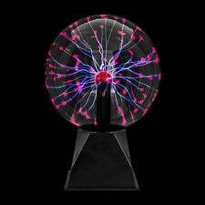 """Disco Party 8"""" Plasma Globe Ball Light Glowing Table Lamp Sound Touch Activated"""