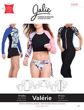 Jalie 3668 Valerie Long or Short Sleeve Raglan Tee Swim Shirt Sewing Pattern
