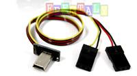 Gopro Hero 3 USB 90° to AV Video Output DC 5V Power Supply BEC Input Cable FPV
